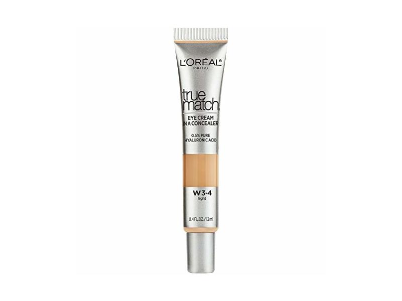 L'Oreal Paris True Match Eye Cream in a Concealer, Light W3-4, 0.4 fl oz/12 ml