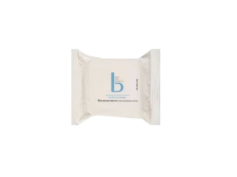 Just The Basics Cleansing & Makeup Remover Facial Towelettes, 30 ct