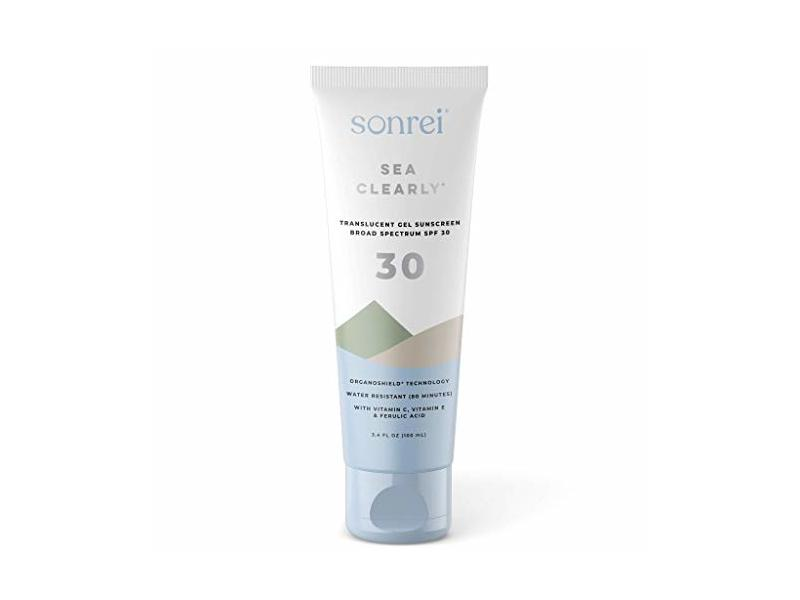 Sonrei Sea Clearly Premium Clear Face and Body Sunscreen Gel, SPF 30, 3.4 Fl Oz