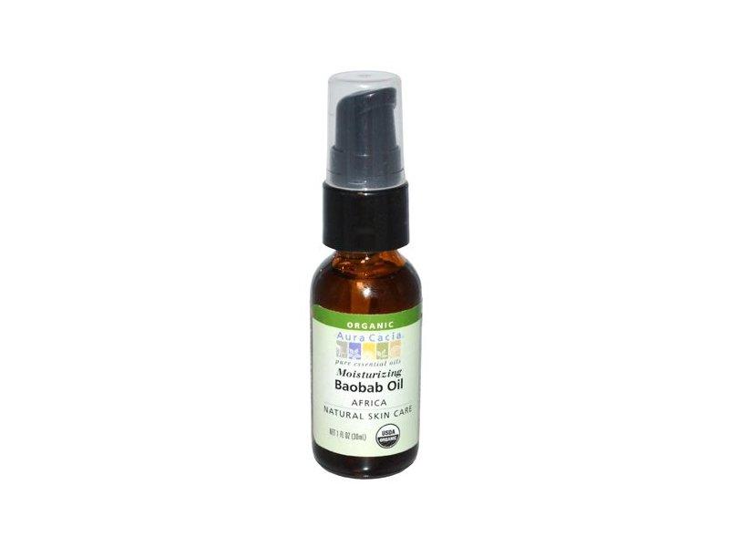 Aura Cacia Organic Skin Care Oil, Baobab, 1-Fluid Ounce