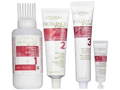 L'Oreal Excellence Triple Protection Color Creme, 5AB Mocha Ash Brown, 3 Pack