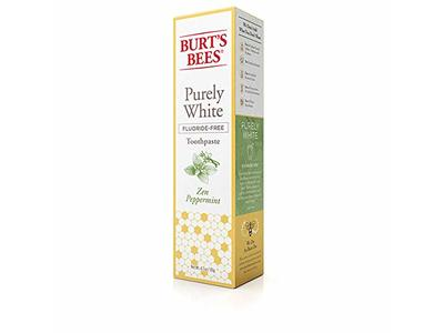 Burt's Bees Purely White Fluoride-Free Toothpaste, Zen Peppermint, 4.5 oz