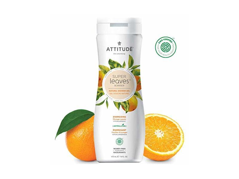 Attitude Super Leaves, Hypoallergenic Energizing Body Wash, Orange Leaves, 16 Fluid Ounce