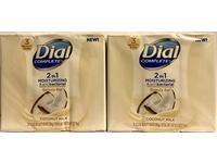 Dial Complete Beauty Bar Soap 2-in-1 Moisturizing & Antibacterial, Coconut Milk, 3 Count 3.2 OZ - Image 2