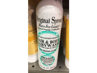 Original Sprout Hair & Body Baby Wash, 12 fl oz - Image 4