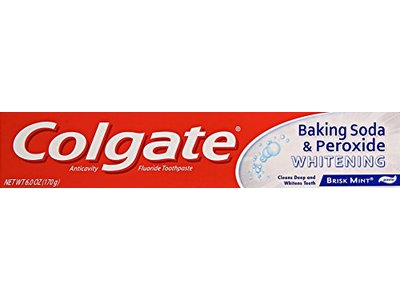 Colgate Baking Soda and Peroxide Whitening Toothpaste, 6 oz