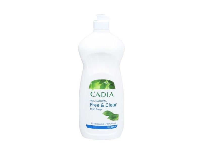 Cadia Liquid Dish Soap, Free & Clear, 25 fl oz