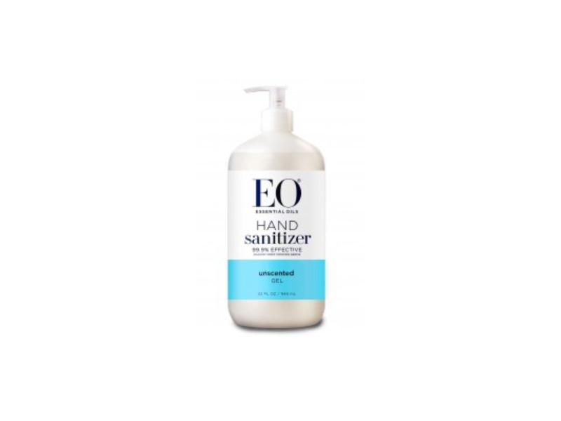 EO Essential Oils Hand Sanitizer Gel, Unscented, 32 fl oz