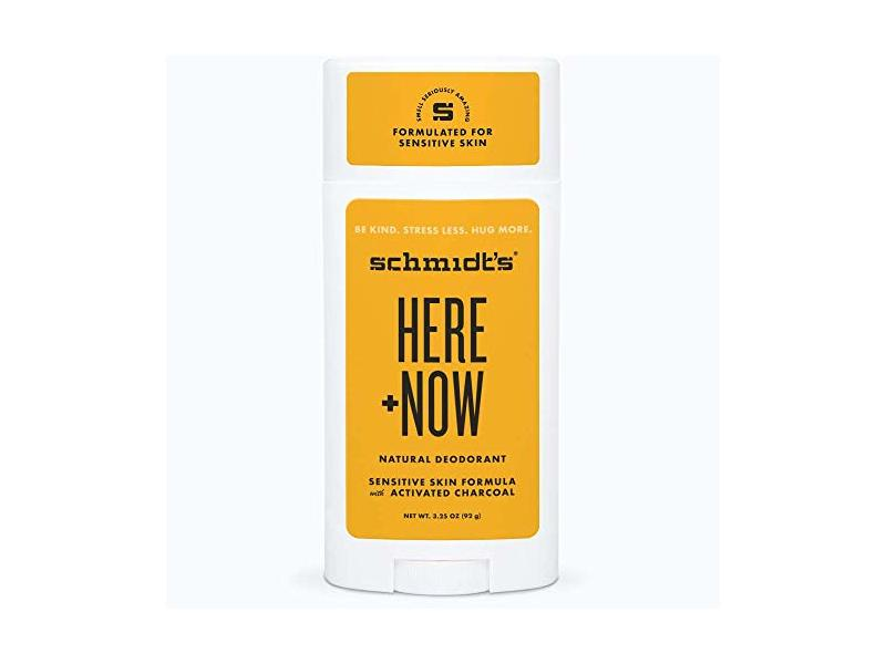Schmidt's Here Plus Now Natural Deodorant Sensitive Skin Formula, 3.25 oz (92 g)