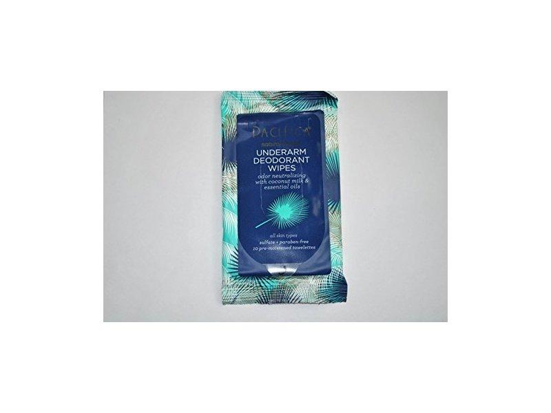 Pacifica Underarm Deodorant Wipes, 10 ct