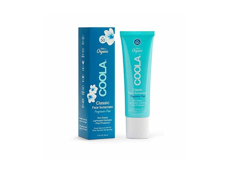 Coola Classic Face Sunscreen SPF 50, 1.7 fl oz/50 mL