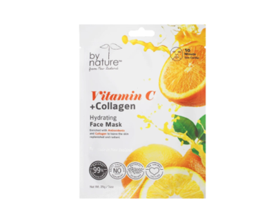 by nature Vitamin C + Collagen Hydrating Face Mask, 25 g