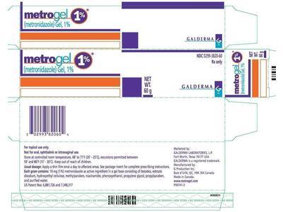 Metrogel (Metronidazole) Gel 1% (RX), 60 Gm, Galderma