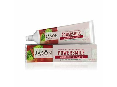 JASON Powersmile Whitening Fluoride-Free Toothpaste, Cinnamon Peppermint, 6 oz