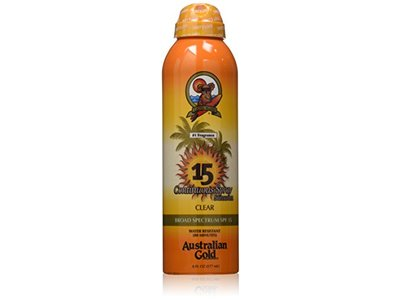 Australian Gold SPF 15 Continuous Spray Sunscreen, Clear, 6 Fl Oz