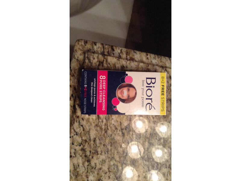 Biore Deep Cleansing Original Pore Strips, 8 +2 free strips, 2 pack
