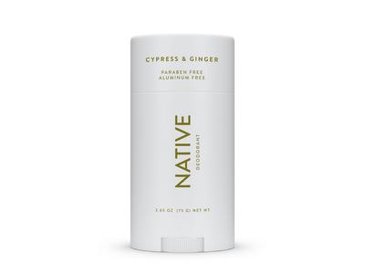 Native Deodorant, Cypress & Ginger, 2.65 oz