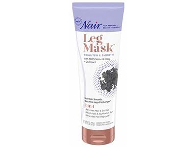 Nair Leg Mask Hair Removal and Beauty Treatment, Charcoal, 8 oz