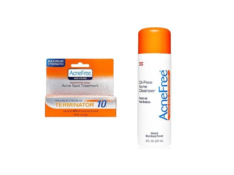 Acnefree Terminator 10 Acne Spot Treatment And Oil Free Acne