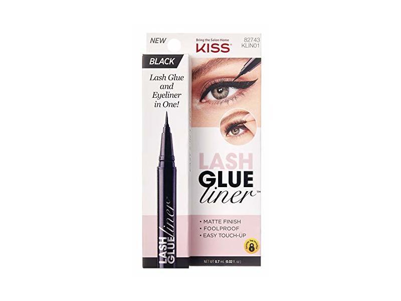 Kiss Lash Glue And Eyeliner In One, Black 0.02 oz, Pack Of 2