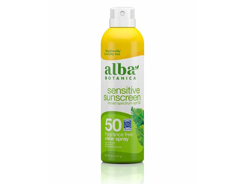Alba Botanica Sensitive Sunscreen Spray, SPF 50, 6 fl oz