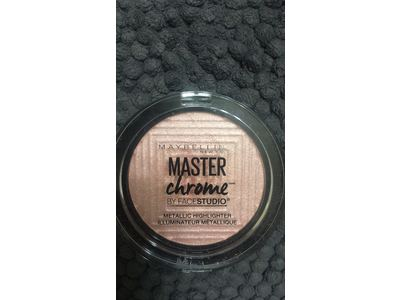 Maybelline New York Facestudio Master Chrome Metallic Highlighter Makeup, Molten Rose Gold, 0.24 oz. - Image 10