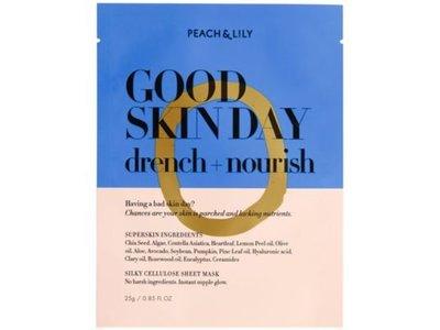 Peach & Lily Good Skin Day Drench + Nourish Sheet Mask, 0.85 fl oz