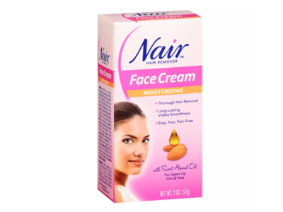 Nair Hair Remover Moisturizing Face Cream with Sweet Almond Oil, 2 oz