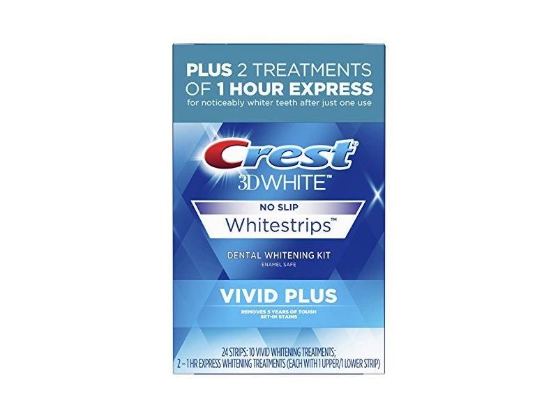 Crest 3D White Whitestrips Vivid Plus, 24 count