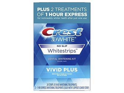 Crest 3D White Whitestrips Vivid Plus, 24 count