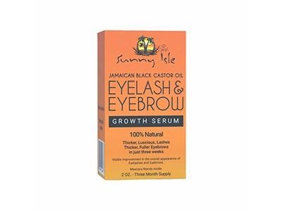 Sunny Isle Jamaican Black Castor Oil Eyelash & Eyebrow Growth Serum, Orange, 2 Ounce