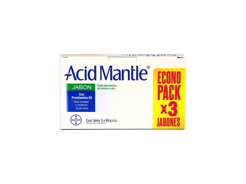 Acid Mantle Jabon con Provitamina B5, 9 g, 3 count