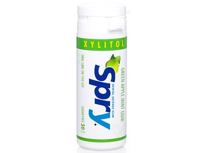 Spry Xylitol Gum, Green Apple Mint, 30ct