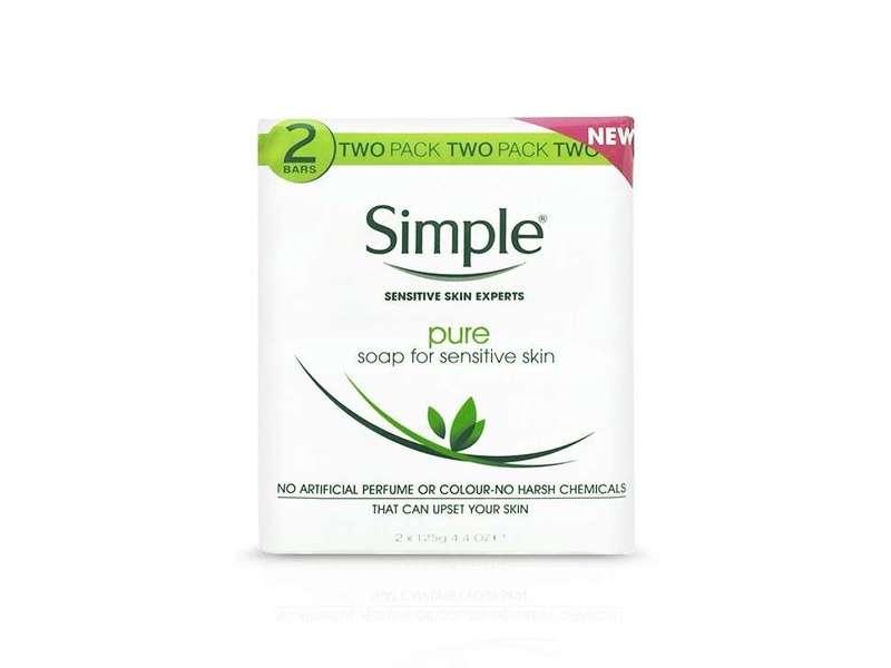 Simple Pure Soap Bar for Sensitive Skin, 125g