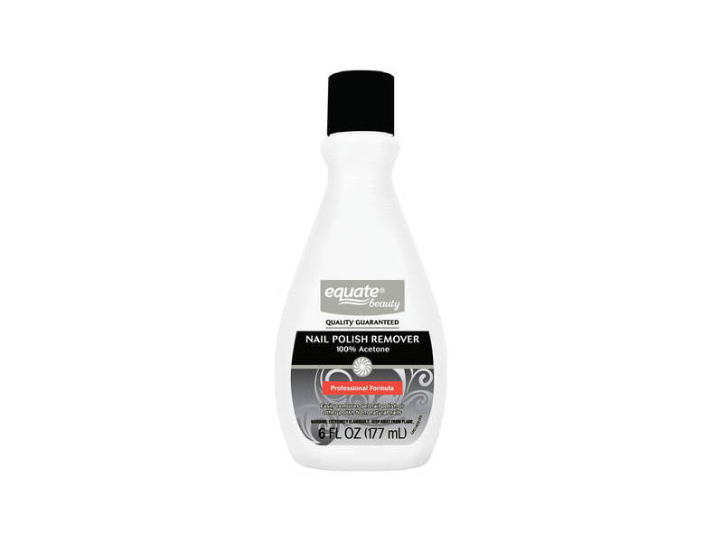 Equate Beauty 100% Acetone Nail Polish Remover, 6 fl oz