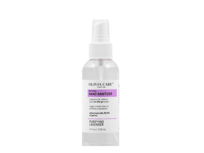 Olivia Care All Natural Hand Sanitizer, Purifying Lavender, 4 fl oz/118 ml