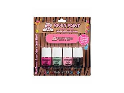 Piggy Paint Water-Based Nail Polish Kit: LOL, Mint to Be, Pinkie, Top Coat