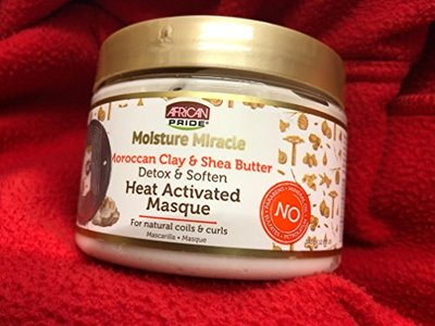 African Pride Moisture Miracle Moroccan Clay & Shea Butter Detox & Soften Heat Activated Masque (12oz)