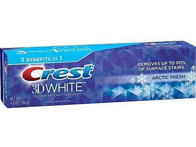 Crest 3D White Arctic Fresh Whitening Toothpaste, 4.8 oz - Image 1