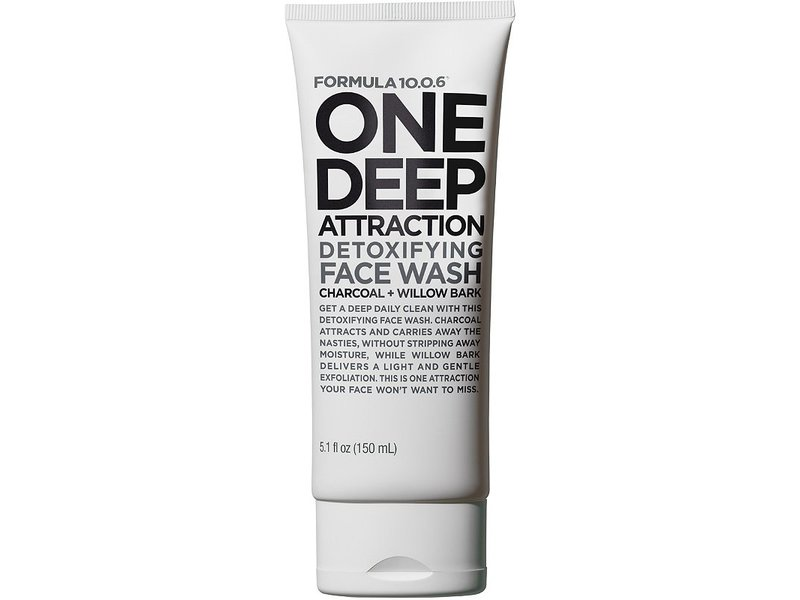 Formula 10.0.6 One Deep Attraction Detoxifying Face Wash, Charcoal + Willow Bark, 10.1 fl oz
