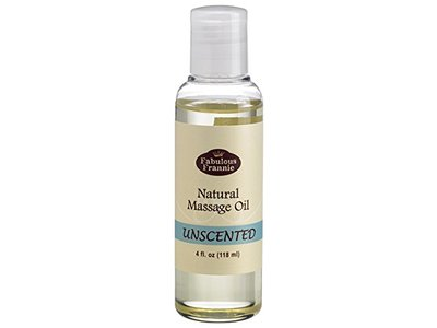 Fabulous Frannie Natural Massage Oil, Unscented, 4 fl oz