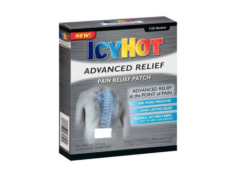 Icy Hot Advanced Relief Pain Relief Patch 4ct