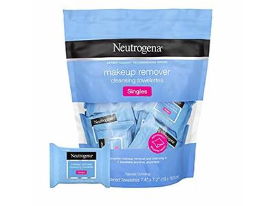 Neutrogena Makeup Remover Cleansing Towelettes Singles, 20 Towelettes (Pack of 2)