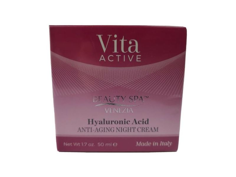 Beauty Spa Vita Active Hyaluronic Acid Anti-Aging Night Cream, 1.7 oz