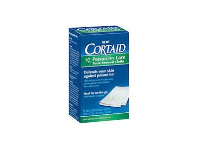 Cortaid Poison Ivy Care Toxin Removal Cloths 6 ea