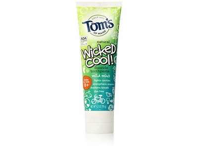 Tom S Of Maine Natural Toothpaste Wicked Cool Fluoride Free Mild Mint