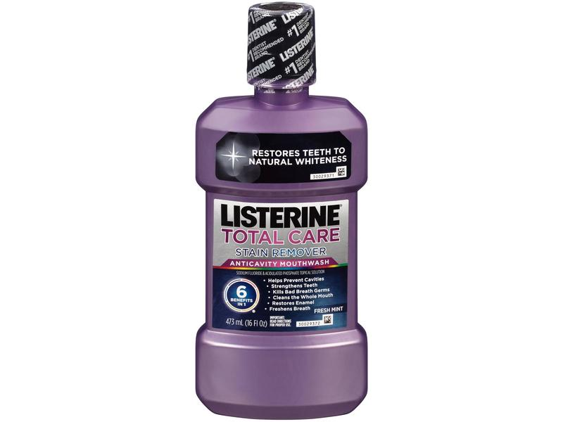 Listerine Total Care Plus Whitening Anticavity Mouthwash - Fresh Mint, Johnson & Johnson