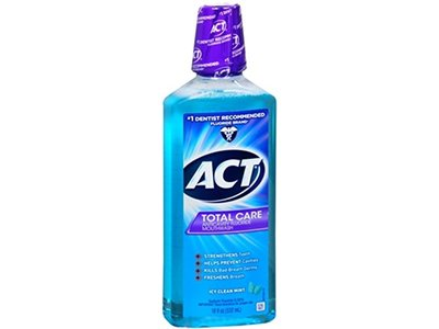 ACT Total Care Mouthwash, Icy Clean Mint,18-Ounce Bottle (Pack of 3)