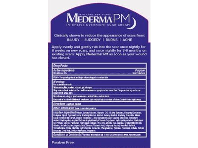Mederma Pm Intensive Overnight Scar Cream 1 7 Oz Ingredients And