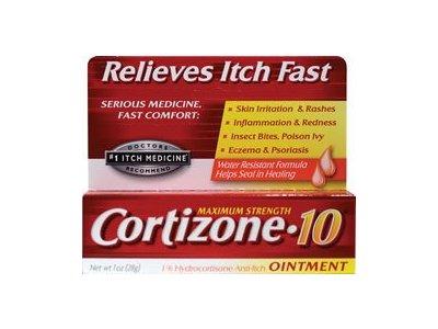 Cortizone-10 Maximum Strength 1% Hydrocortizone Anti-Itch Ointment, 1 oz
